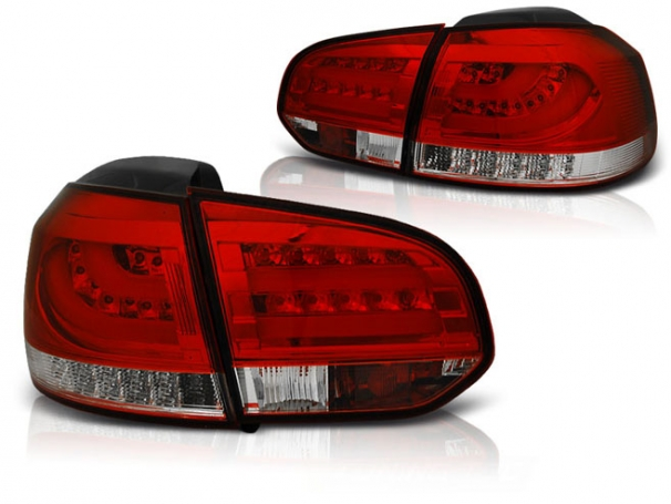 Lampy Tylne VW Golf 6 VI 08-12r Led Bar R-W
