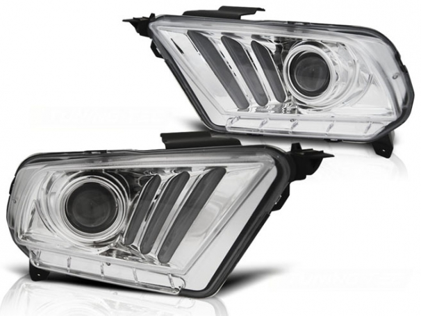 LAMPY REFLEKTORY FORD MUSTANG V 10-13 CHROME DTS