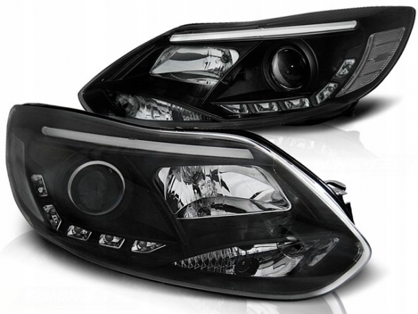 LAMPY REFLEKTORY FORD FOCUS MK3 11- LED TUBE BLACK