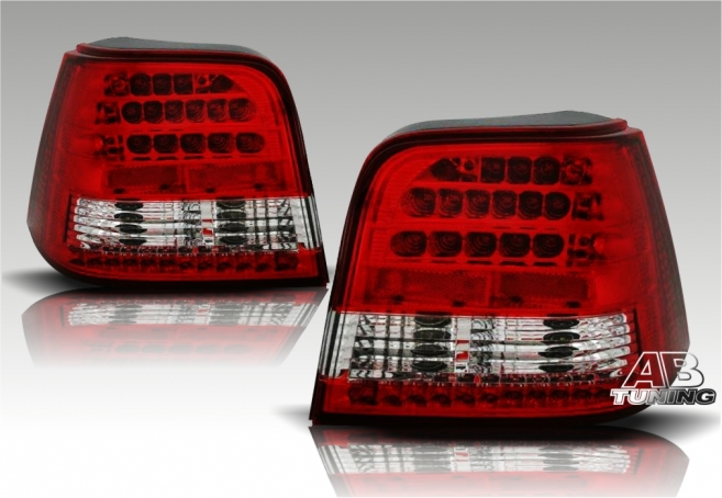 Lampy Tylne VW Golf 4 98-04r Led Red Eagle