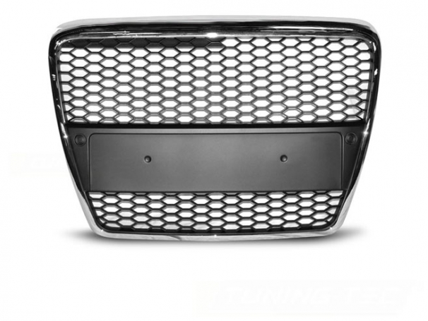 Grill Atrapa Audi A6 C6 04-08r RS-Type Chrom Black