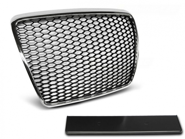 Grill Atrapa Audi A6 C6 09-11r RS-Type Chrom Black