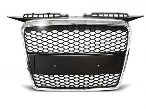 Grill Atrapa Audi A3 8P 05-08r RS-Type Chrom Black